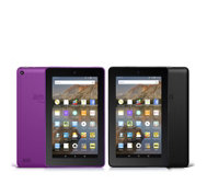 "Amazon Fire Set of 2 WiFi 8GB 7"" Tablets with Case and 32GB MicroSD Card"