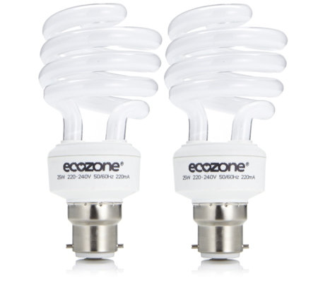 """As Is"" BioBulb Set of 2 Energy Saving Light Bulbs"