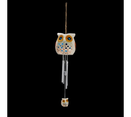 Smart Garden Ceramic Owl Windchime