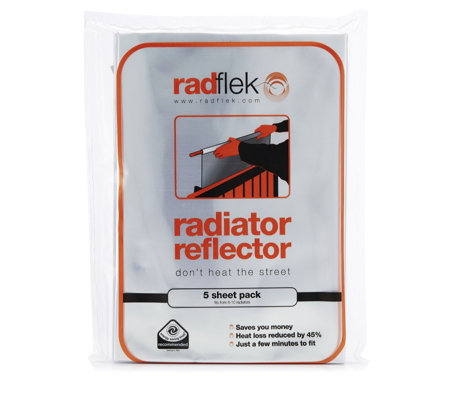 Radflek Pack of 5 Radiator Reflector Sheets