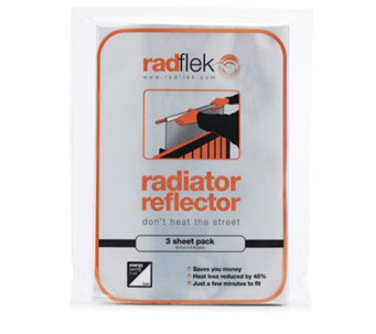 Radflek Pack of 3 Radiator Reflector Sheets - 507369