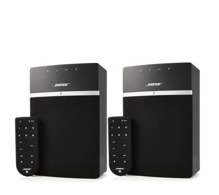 bose set of 2 soundtouch 10 bluetooth wifi music systems. Black Bedroom Furniture Sets. Home Design Ideas