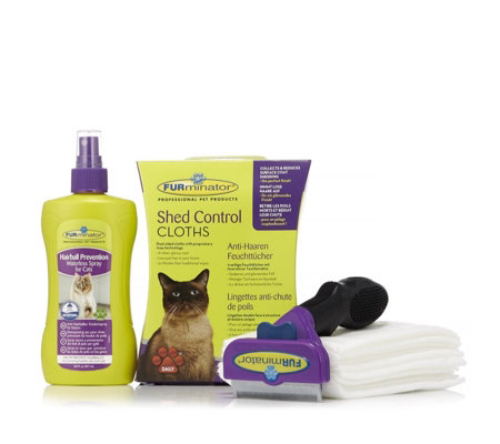 Furminator Cat Deshedding Tool Spray & Cloth