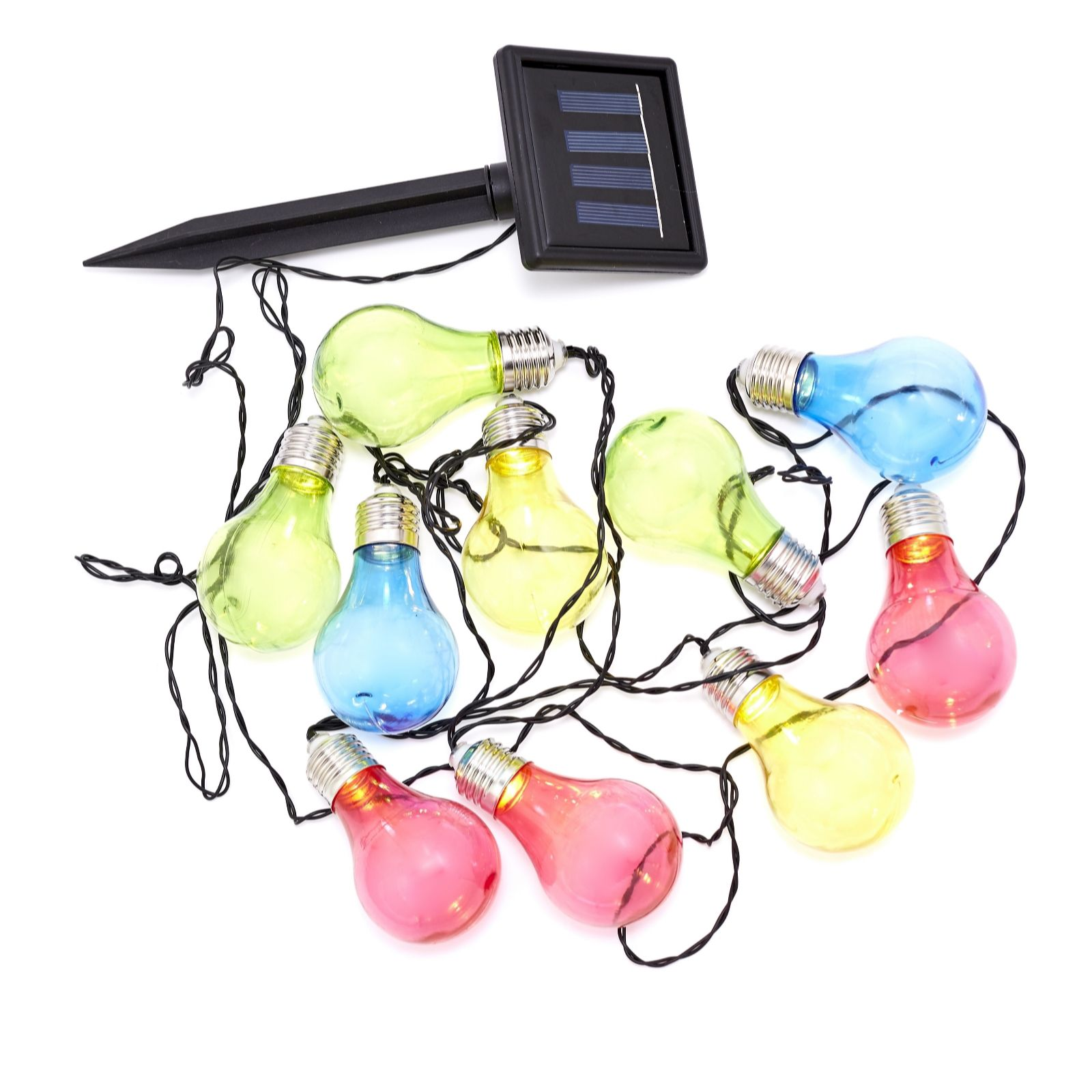 Qvc Solar String Lights : Luxform Solar Powered 10 LED Coloured Bulb String Lights - QVC UK