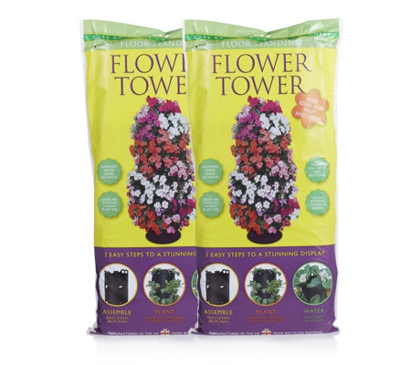 Flower Tower Set of 2 Free Standing Watering Systems
