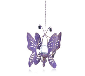 Compass Garden 2 in 1 Solar LED Butterfly Wind Spinner - 509682