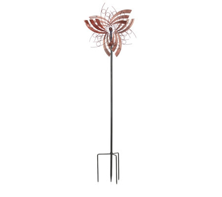 Plow & Hearth Angel Wings 6ft Garden Wind Spinner