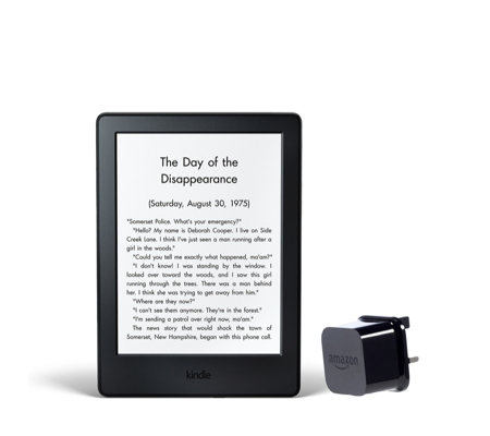 "Amazon Kindle 6"" WiFi eReader with Glare-Free Touch Display & Powerfast Charger"