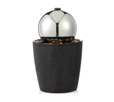 Bernini Contemporary Tabletop with Steel Ball Water Fountain