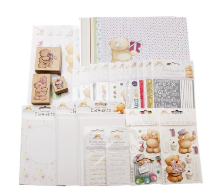 Forever Friends 109 Piece Birthday Card Kit with Decoupage, St