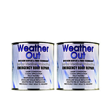 Weather Out Emergency Roof Repair 2x 1kg Tins - 508799