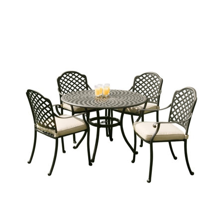 Sun Time Buckingham 90cm Table with 4 Chairs Garden Set