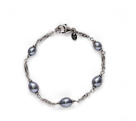 """As Is"" Honora 5-6mm Cultured Pearl Station Bronze"
