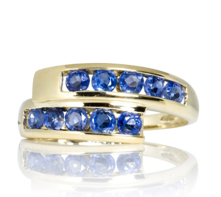 1ct Nepalese Kyanite Bypass Channel Set Ring 9ct Gold QVC UK