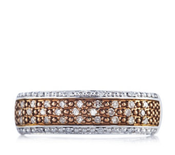 0.25ct Diamond Pave Band Ring Sterling Silver - 632403