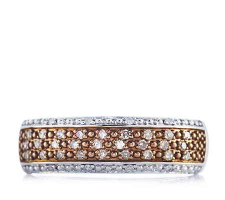 0.25ct Diamond Pave Band Ring Sterling Silver