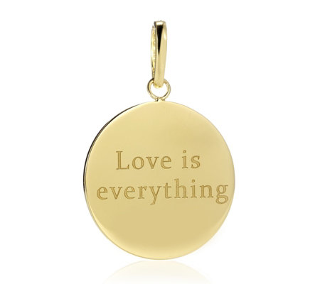 K by Kelly Hoppen Love Pendant Charm 18ct Gold Plated Bronze