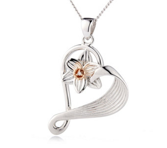 Clogau Daffodil 9ct Rose Gold & Sterling Silver Diamond Accent 55cm Necklace - 619806