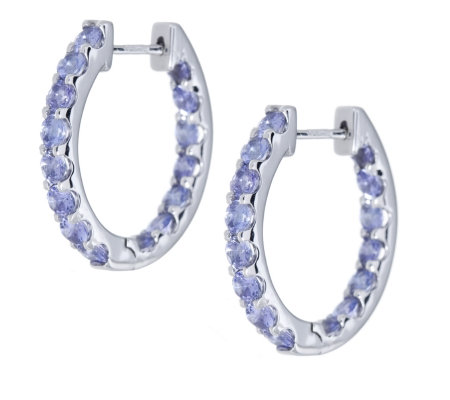Tanzanite hoop earrings tanzanite hoop earrings in for Jared jewelry the loop