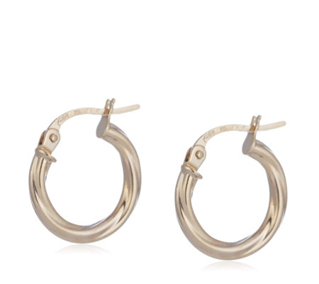 9ct Gold Polished Creole Earrings
