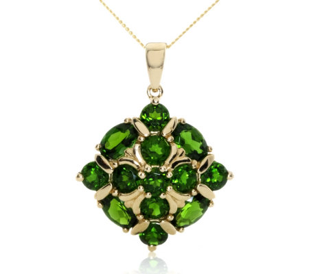 32ct russian diopside cluster pendant 45cm chain 9ct gold qvc uk 32ct russian diopside cluster pendant 45cm chain 9ct gold aloadofball Images