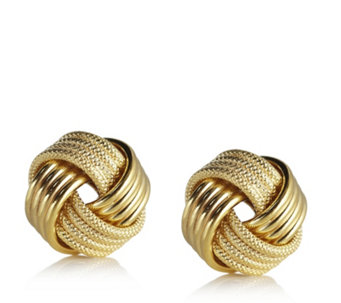 9ct Gold Knot Stud Earrings - 608614