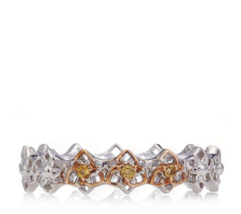 Clogau 9ct Rose Gold & Sterling Silver Eternal Daffodil Band Ring - 652614