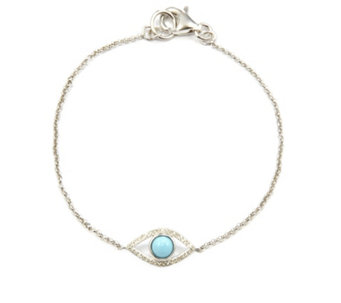 Lisa Snowdon I See You Diamond & Turquoise Bracelet Sterling Silver - 627815