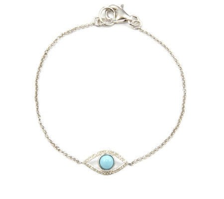 Lisa Snowdon I See You Diamond & Turquoise Bracelet Sterling Silver