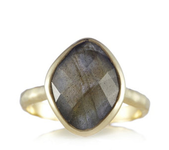 K by Kelly Hoppen Faceted Gemstone Ring 18ct Vermeil Sterling Silver - 664316