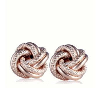 9ct Gold Textured Knot Earrings - 618119