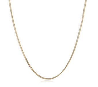 Gold Gallery 9ct Gold 50 Gauge Diamond Cut 50cm Curb Chain - 685122
