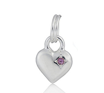Links of London Mini Heart Birthstone Gem Charms Sterling Silver - 611823