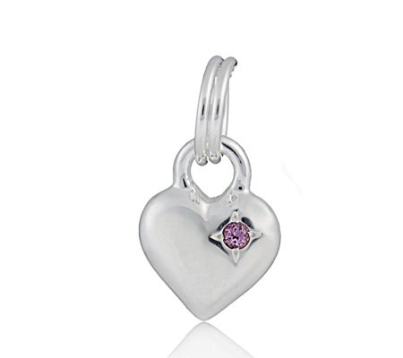 Links of London Mini Heart Birthstone Gem Charms Sterling Silver
