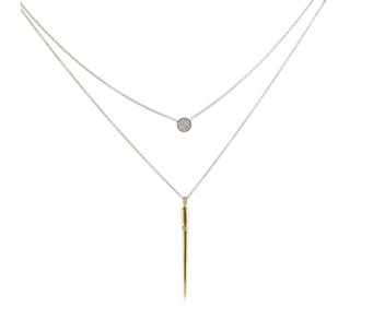 K by Kelly Hoppen Set of 2 Layering Necklaces 18ct Vermeil Sterling Silver - 664324
