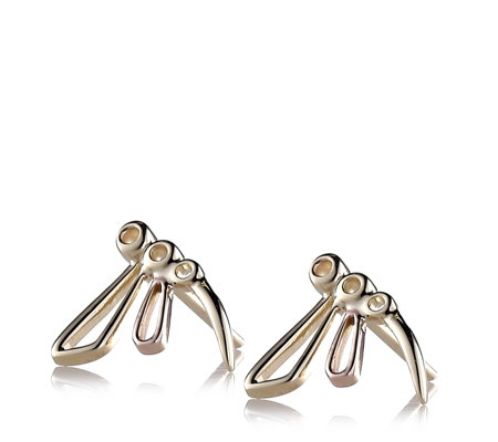 Clogau 9ct Gold Damselfly Earrings
