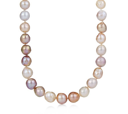 Honora Cultured Ming Pearl Rope Necklace Sterling Silver