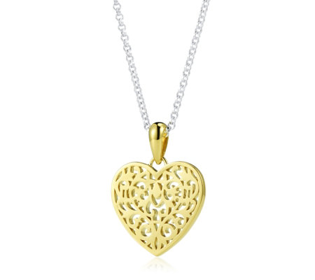 Links of London Tapestry Heart 45cm Necklace Sterling Silver