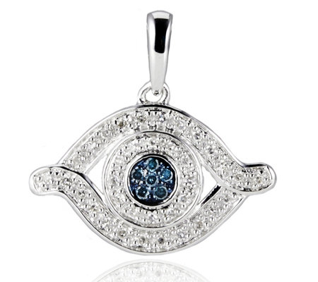 Lisa Snowdon Diamond Eye Pendant Sterling Silver