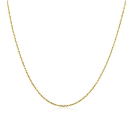 9ct Gold Adjustable Spiga 55cm Necklace