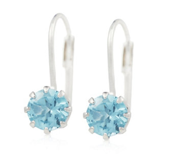 Sogni d'Oro 1.50ct Madagascan Apatite Leverback Earrings 9ct White Gold - 693636