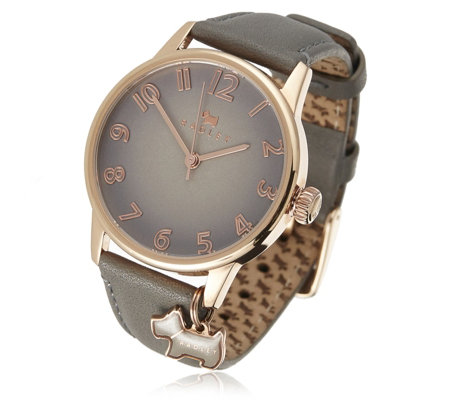 Radley Ladies Dog Charm Leather Strap Watch