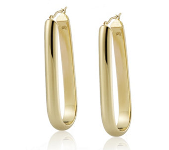 Bella Vita 18ct Gold Plated Oval Hoop Earrings Bronze - 696739