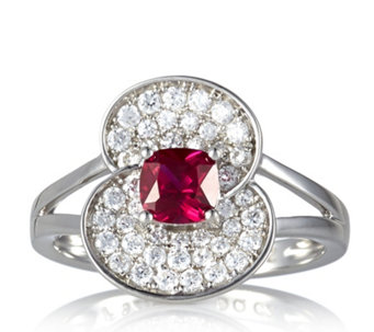 The Poppy Collection Sterling Silver 1ct tw Ring by Diamonique - 663940