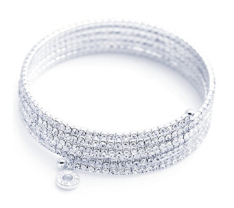 Anne Klein Crystal Expandable Bangle - 697140