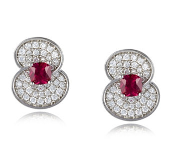The Poppy Collection Sterling Silver 1.4ct tw Earrings by Diamonique - 663941