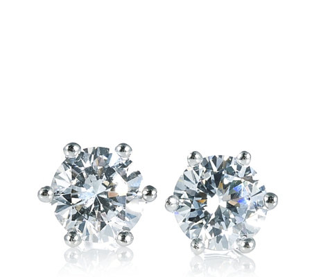 Diamonique 2ct tw Stud Earrings Sterling Silver
