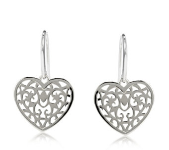 Links of London Tapestry Heart Drop Earrings Sterling Silver - 665952