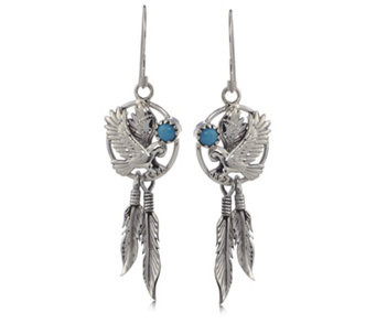 Nizhoni Sleeping Beauty Turquiose Drop Earrings Sterling Silver - 625456