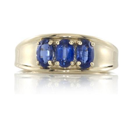 1 5ct Nepalese Kyanite 3 Stone Ring 9ct Gold QVC UK